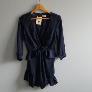Hello milly romper navy blue nwt